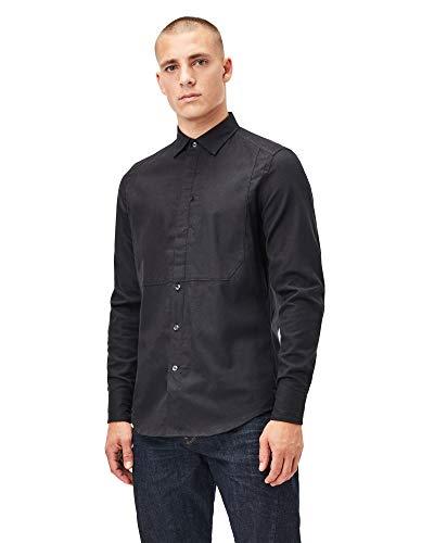 G-STAR RAW Men's Tuxedo Slim Shirt, Dk Black B821-6484, XS