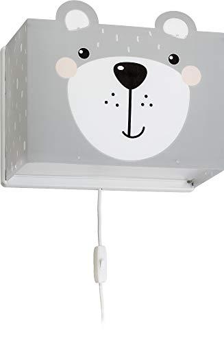 Dalber kinder Wandlampe, Kinderlampe Wandleuchte Little Teddy Bär Tiere, grau