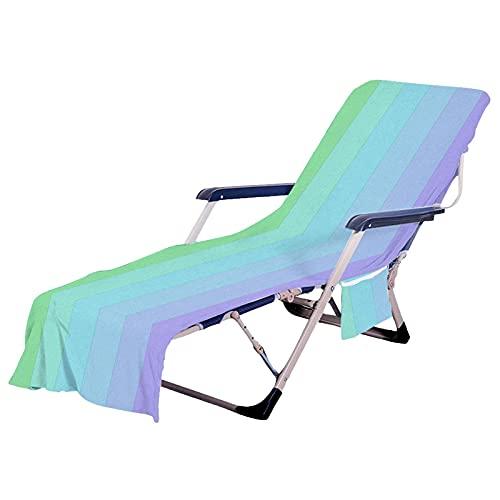DealMux Funda de microfibra para piscina con bolsillos laterales Bolsillo lateral de gran tamaño para tomar el sol Playa Hotel Sillón Toalla Placer