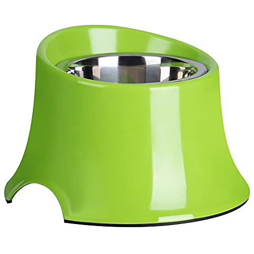 Super Design Elevated Dog Bowl Raised Dog Feeder for Food and Water 2.5 Cup Green