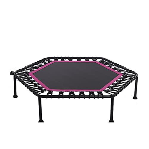 XuZeLii Trampolín Trampoline Gimnasio Fitness trampolín para Adultos niños Saltar Entrenamiento Deportivo Adecuado para Entrenamientos De Estudio (Color : Pink, Size : 127x27cm)