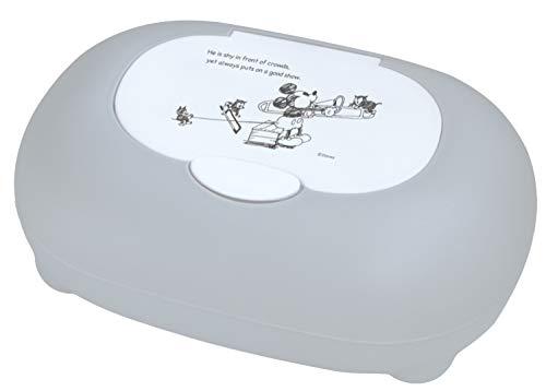 錦化成ディズニーミッキーマウスウェットティッシュ除菌シートおしりふきケース日本製corottoグレー19×13×7.5cm