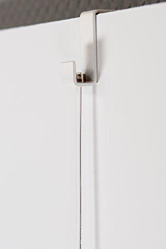 Art & More Stellwandhaken 21mm mit Lochbohrung, Komplett-Set mit Perlonseil 1,5m und Bilderhaken bis 4kg, Trennwandhaken, Bilderhaken, Haken für 21mm breite Stellwände, Aufhänger für Trennwände