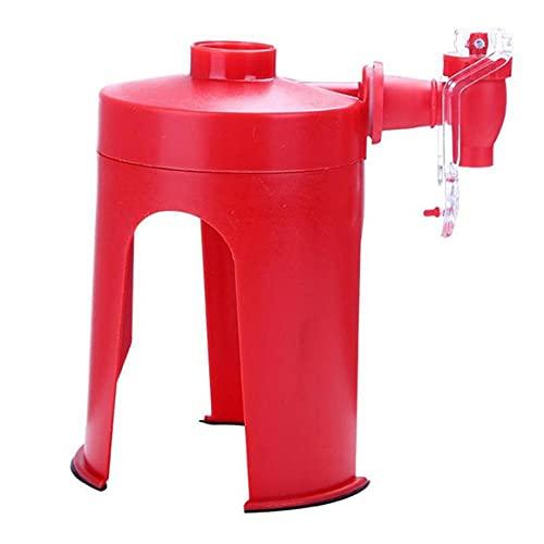 Persdico Dispensador de refrescos Dispensador de Burbujas Dispensador de Bebidas Dispensador de Agua de plástico Cola Rood Party Sprite Dispensador