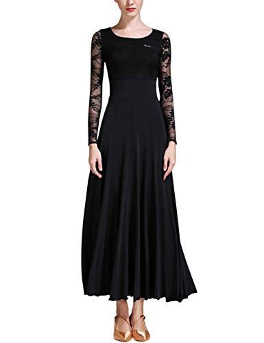 Zhhlaixing Modern Glatt Ballsaal Tanzkleider - Hohe Taille Walzer Standard Tanzendes Kleid für Erwachsene Frauen
