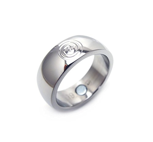 Feng Shui Energy Fortune Glücksring mit Neodym Magnet Energiespirale Förderung von Erfolg und Reichtum Energetix 4you Magnetring 2122-21