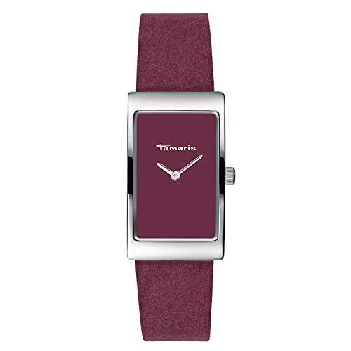 Tamaris Damen Analog Japanisches Quarzwerk Uhr mit Leder Armband TW025