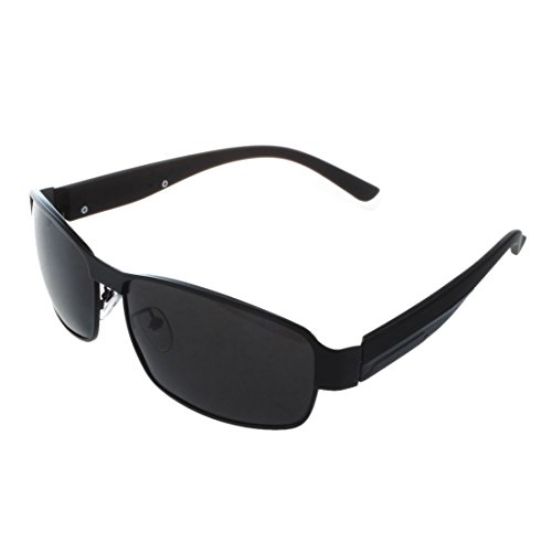 TOOGOO Mode conduite verres polarises hommes lunettes de soleil de sports de plein air lunettes-Noir