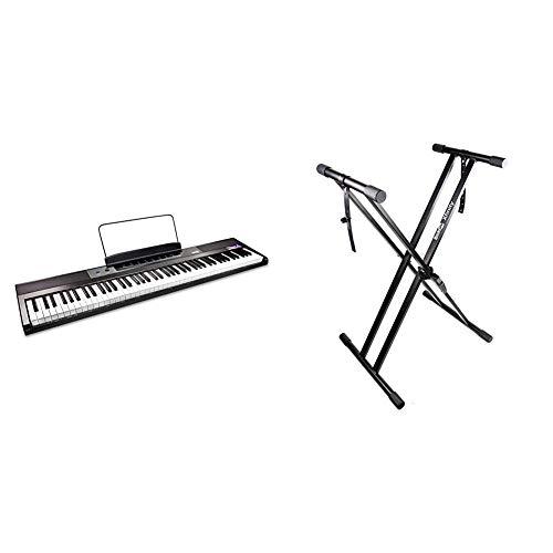 RockJam Teclado de piano digital para principiantes Piano con teclas semipesadas de tamaño completo, Soporte de música + Xfinity...