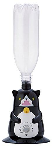 APIX超音波式猫型ペットボトル加湿器ブラックAHD-127-BK