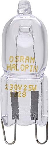 OSRAM 66725 - Bombilla de cápsula halógena, 40 W, G9, para horno y microondas