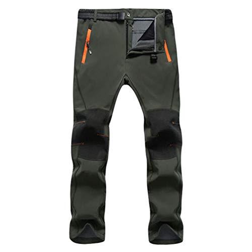 Cayuan Pantaloni da Trekking Uomo Donna Pants da Arrampicata Imbottiti Caldi Invernali Antivento Impermeabile Sportivo