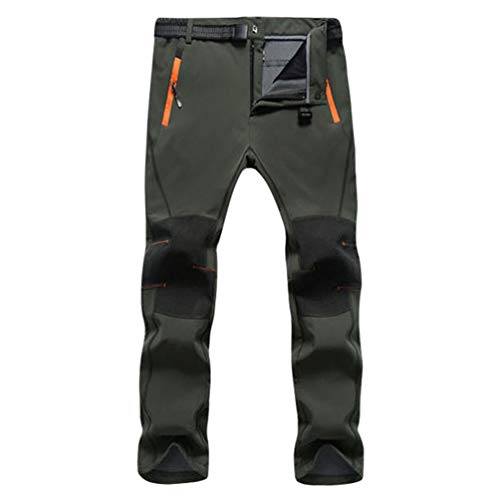 Cayuan Pantalón de Senderismo Invierno Acolchado Pantalones de Escalada Calentar Impermeable Ropa...