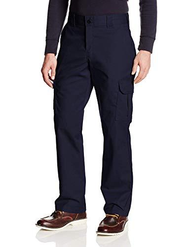 Dickies Men's Regular Straight Stretch Twill Cargo Pant, Dark Navy, 36x32
