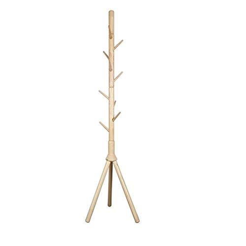 HYAN Estante de la Capa de pie Libre de Madera, Soporte de Abrigo de árbol, fácil de Montar el Soporte de la Percha de la Capa para el Dormitorio, el Pasillo, la Entrada (Color : B)