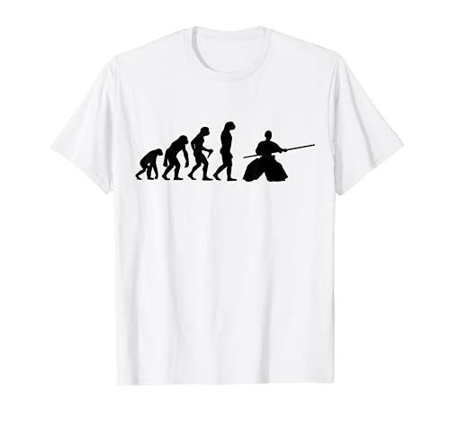 Aikido 進化 武道 スティック ファイティング Tシャツ