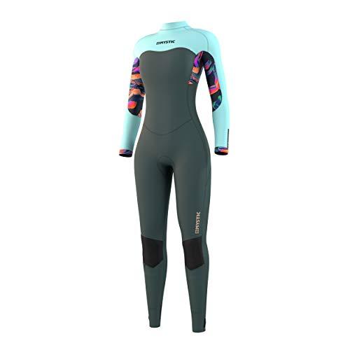 Mystic Watersports - Traje de Neopreno con Back Zip Dazzled 5/3mm Mujer de Surf, Kitesurf y Windsurf, Hoja Oscura, Estiramiento fácil