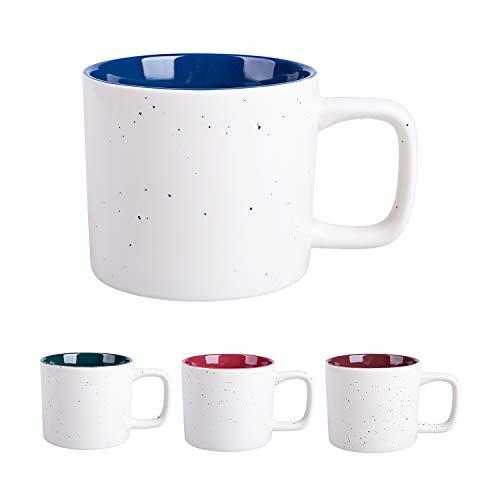 Cutiset Tassen 4 teilig Set aus Porzellan, 450ml (Mehrfarbig 1)