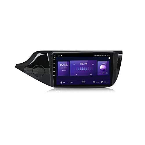 ADMLZQQ Android 10 Car Radio 2.5D 9'Pantalla táctil ROM Reproductor Multimedia para KIA CEED 2012-2016 DSP Salida RCA Completa 4G WiFi Bluetooth Carplay Dab OBD2,7862,6+128G