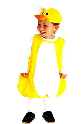 Kuikenjurk - carnaval - vermomming - geel - halloween dier - kinderen - unisex - 1 - maat s - origineel cadeau-idee - 3 jaar