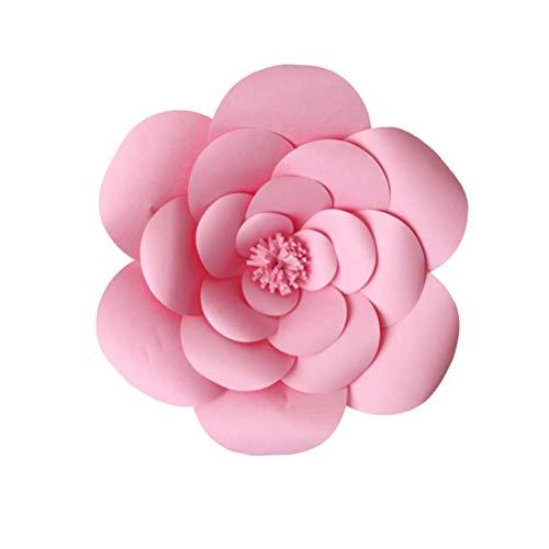 Amosfun 20cm 3D Papier Blume Wand Dekor DIY Art Decals für Party Home Hochzeit Hintergrund Dekoration