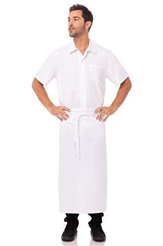 delantal blanco fabricante Chef Works