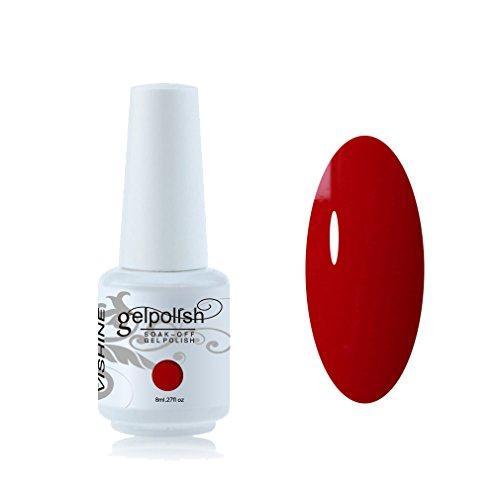 Vishine 8ml Gelpolish Lacquer Shiny Color Soak Off UV LED Gel Nail Polish...