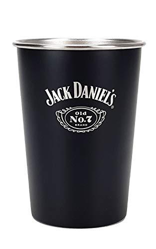 Jack Daniels Whiskey Metallbecher Becher schwarz Bar Longdrink