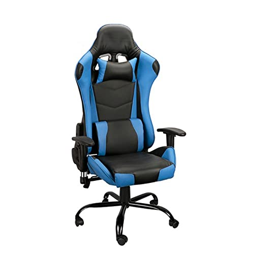 RHNTGD Gamingstuhl, Gaming Stuhl Mit Fußstütze, Schreibtischstuhl Mit Hoher Rückenlehne, Bürostuhl, Höhenverstellbar, Hochklappbare Armlehnen, Wippfunktion, Für Gamer