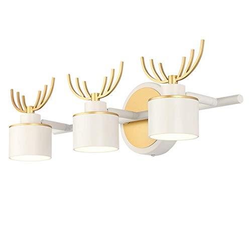 CCLLA Lumières de Miroir de courtoisie à LED, Applique Murale de Bois de 9 W 3 têtes de Miroir de Salle de Bains lumières de Miroir étanche Avant éclairage de Maquillage 4000K Blanc Neutre