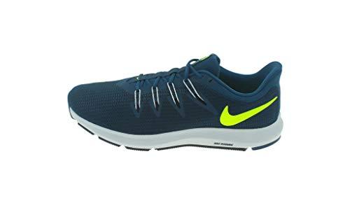 Nike Quest, Zapatillas de Deporte para Hombre, Multicolor (Blue Force/Volt/Black/Pure Platinum 402), 44.5 EU