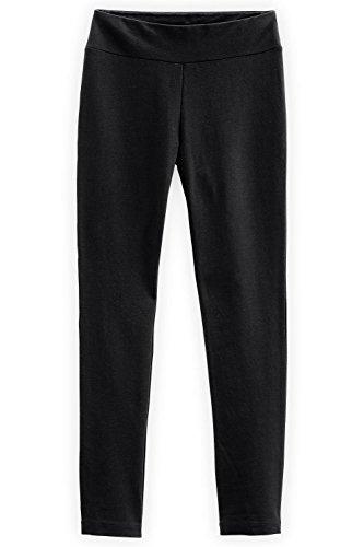 Fair Indigo Fair Trade Organic Slim Leg Knit Pants (S, Black)