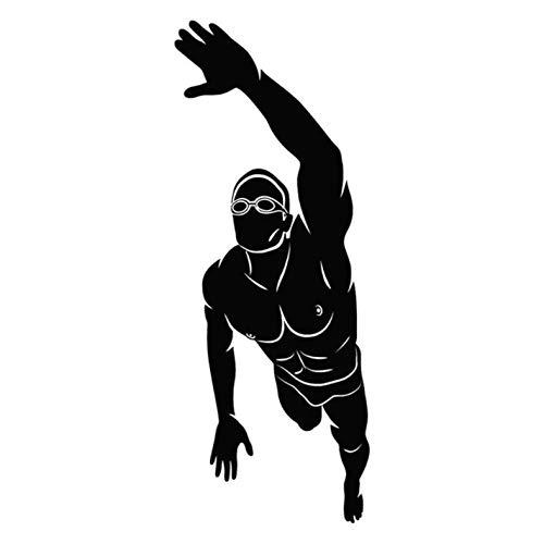 HKSOKLLJJ 3 Stück Auto Aufkleber & Abziehbilder 7.1CM * 18.3CM Schwimmer Sport Wasserdicht Reflektierende Selbstklebende Vinyl Aufkleber Laptop Motorrad Fahrrad Graffiti Aufkleber