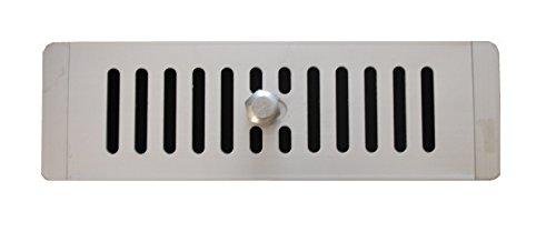 Gereguleerd Aluminium Ventilatierooster 250 mm x 78 mm (9,8 inch x 3,1 inch) Voor Kasten, Aluminium Ventilatierooster, Gereguleerde Ontluchting.