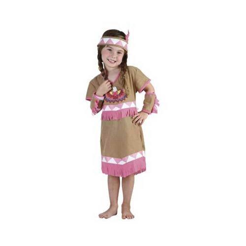 Disfraz niña India - talla 3 - 4 años