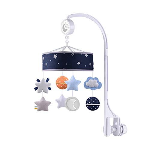 ZXJ Baby Musical Crib Mobile 360 ° Colgante Girar con La Unidad De Bobinado Caja De Música Cama para Bebés Decoración De Lingotes para Recién Nacidos