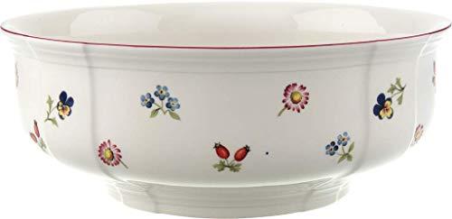 Villeroy & Boch - Petit Fleur Schüssel, zarte Schale aus Premium Porzellan mit filigranen Reliefs und blumig-fruchtigen Motiven, weiß/bunt, 25 cm