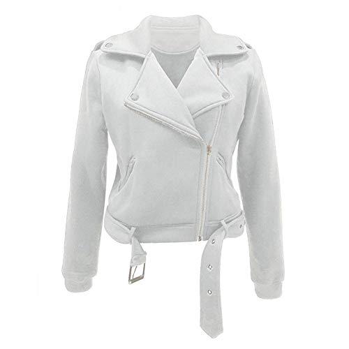 WLXFVNYBD Frauen Lederjacke Langarm vorne offen Kurze Strickjacke Anzug Damen Zip Mäntel Top Fliegende Jacke Mantel Outwear @ XXL