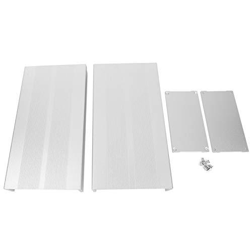 Bricolaje electrónico, sensación cómoda en las manos, caja de aluminio, accesorios de placa de circuito, resistente al desgaste y((Sand silver with flat plate))