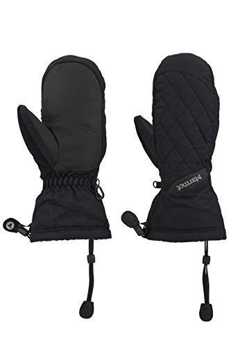 Marmot Damen Hardshell Ski- und Snowboard Handschuhe, Winddicht, Wasserdicht, Atmungsaktiv Wm's Moraine Mitt, Black, S, 14850-001