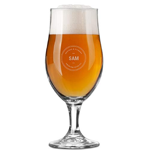 YourSurprise Vaso de Cerveza Personalizada - Vaso de Cerveza con Nombre Grabado: Personalizable con Texto, Diseños y Diferentes Tipos de Letras
