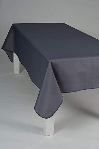 Villages de Provence Nappe Uni rectangulaire - Anti Taches, Infroissable - 100% Polyester (Tissu) - Gris, 300x150cm, Rectangulaire