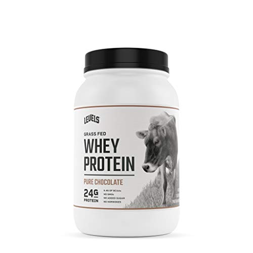 Levels Grass Fed 100% Whey Protein, No GMOs, Pure Chocolate, 2LB