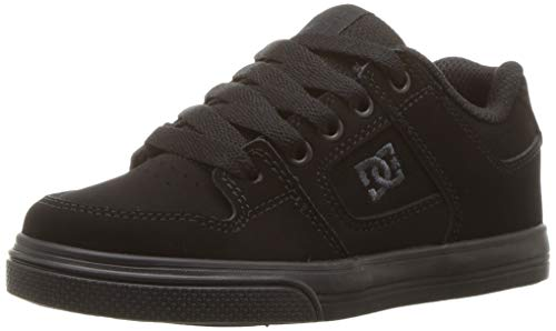DC unisex child Pure Elastic Skate Shoe, Black, 5.5 Big Kid US