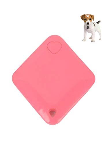 Bestgift - Rastreador GPS para perro y gato, Android IOS con tarjetero, GPS en tiempo real, 40 x 45 x 7 mm, color rojo