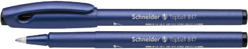 Schneider Topball 847 Rollerball Pen - Black (Pack of 10)