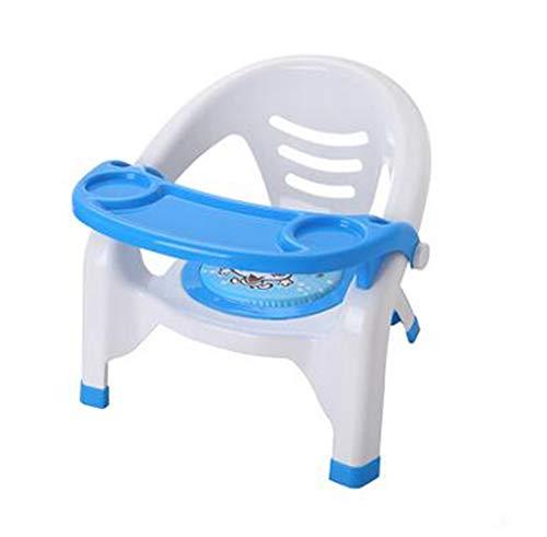 Kinderstuhl Baby-Esstisch Stuhl Rücken Stuhl Kindergarten Stuhl Plastik Bank Esstisch Hocker Cartoon Baby Dining Stuhl,Blue