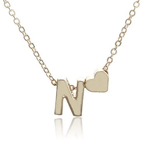 Shulcom Collar Letra Nombre Collar de Mujer Cadena de clavícula