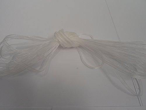 Beautiful Ribbon 1 Rouleau de 3mm x 50 mètres Ruban Organza Blanc Mariage Faveurs de décoration de Noël Pâques 3 mm