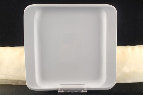Teller Servierteller Flachteller Porzellan Weiß Gastronomiebedarf ca. 31x29cm